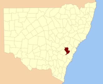 Westmoreland County, New South Wales - Location in New South Wales