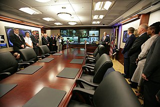 Situation Room secure conference room in the White House, Washington D.C.