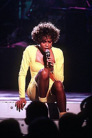 "English: Whitney Houston performing ""Savi..."