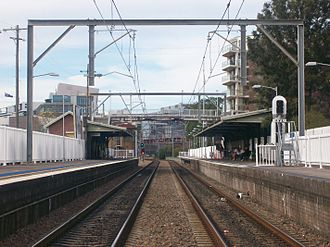 Newcastle railway line, New South Wales - Former Wickham station in July 2013