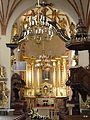 Widok - wnętrza kościoła p.w. Św. Trójcy w Strzelnie - panoramio (1).jpg