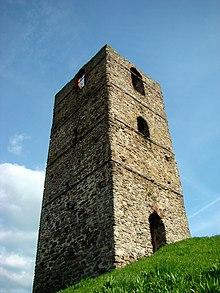 Башня в Столпье, один из двух сохранившихся образцов башен волынского типа