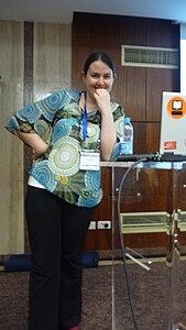 Wikimania 2008 Alexandria - Brianna - State of Commons - 1.jpg