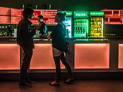 Wikimedia Conference 2015 - May 16 - Party at HomeBase Lounge - 16.jpg
