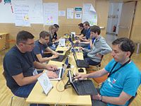 Wikimedia Hackathon Vienna 2017 attendees 16.jpg