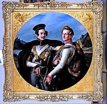 Doppelbildnis der Prinzen Friedrich von Preußen und Wilhelm zu Solms-Braunfels in Kürassieruniformen, 1830, Museum Kunstpalast (Quelle: Wikimedia)