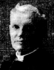 Black and white portrait of William Charlton, scanned from a newspaper