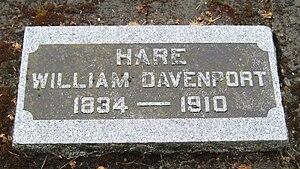 William D. Hare - Hare's grave marker