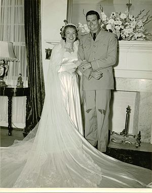 William B. Caldwell III - Caldwell on his wedding day in 1949.
