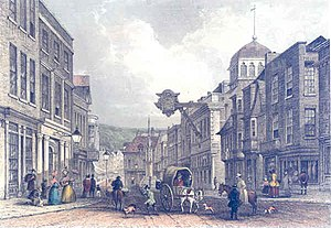 Winchester - Winchester High Street in the mid 19th century.