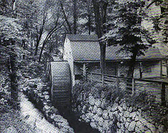 John Winthrop the Younger - Grist mill built by Winthrop in New London in 1650 as it appeared in 1910