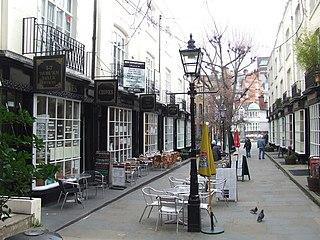 Woburn Walk Georgian era shopping street in the London Borough of Camden