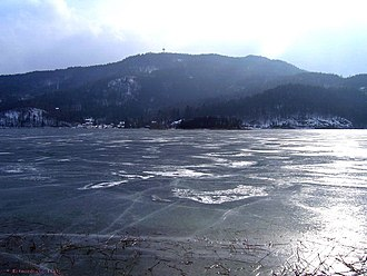 Wörthersee - In winter the lake sometimes freezes.