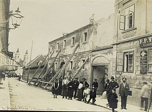 1895 Ljubljana earthquake - Wolf Street (Wolfova ulica)