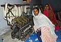 Woman doing a khadi training, Mahatma Gandhi Seva Ashram, Jaura, Madhya Pradesh, India.jpg