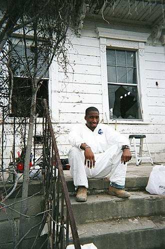 Anthony Woods - Woods helping in the recovery after Hurricane Katrina in New Orleans