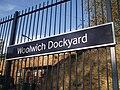 Woolwich Dockyard stn signage.JPG