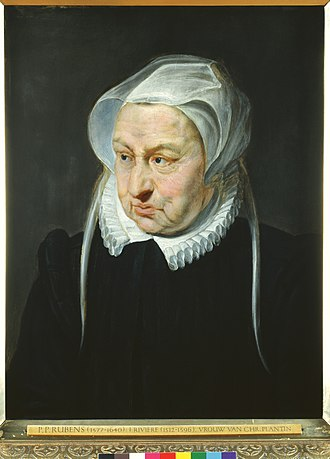 Christophe Plantin - Portrait of Jeanne Rivière (1521?-1596), workshop of Pieter Paul Rubens