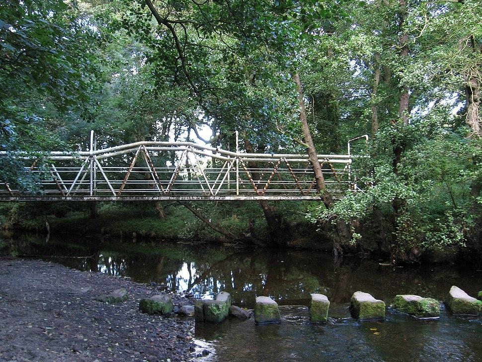 Wortley - footbridge and stepping stones
