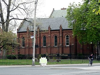Wycliffe College, Toronto - East wing of Wycliffe College, seen from the edge of Queen's Park