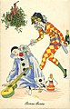 Xavier Sager Bonne Année Tuck series Pierrot mistletoe.jpg