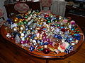 Xmas ornaments on a table 02.JPG