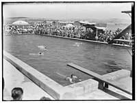 Y.M.C.A. celebration at Beit Nabala on May 21, '44. Military swimming pool opened by Brig. Gen. Allan LOC matpc.00492.jpg