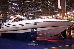 The World Is Not Enough - Yacht used in the opening boat chase, on display at boot Düsseldorf in spring 2000.