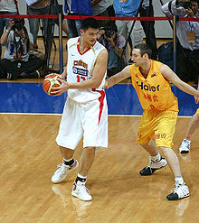 d1b24719c International players like Chinese Yao Ming (in white) have increased  interest abroad and opened opportunities in China.