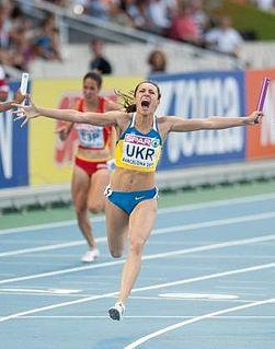 Yelyzaveta Bryzhina Ukrainian sprint athlete