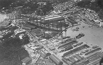 Yokosuka Naval Arsenal - Yokosuka Naval Arsenal immediately after the Great Kantō earthquake of 1923