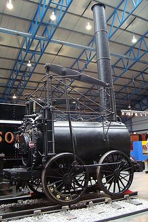 Agenoria (locomotive) - Side view, showing the grasshopper beam
