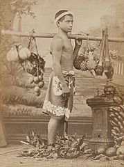 Young man with exotic fruit, ca. 1870.jpg