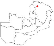 Location of Mporokoso in Zambia