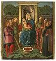 Zanobi di Jacopo di Piero Machiavelli - Virgin and Child Enthroned with Saints Sebastian, Andrew, Bernardino (^), Paul, Lawrence, and Augustine - 48.297 - Museum of Fine Arts.jpg