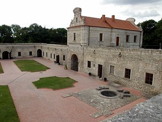 Zbarazh Castle - Inside yard