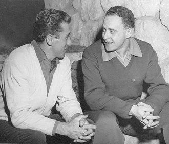 František Tikal - Zdeněk and František (right) at the 1960 Olympics