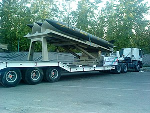 Zelzal-3 - Zelzal-3 triple launcher during a 2012 Tehran military exhibition