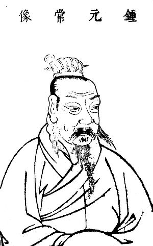 Zhong Yao - Portrait of Zhong Yao in the Sancai Tuhui