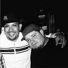 Zilla (left) with Vinnie Paz