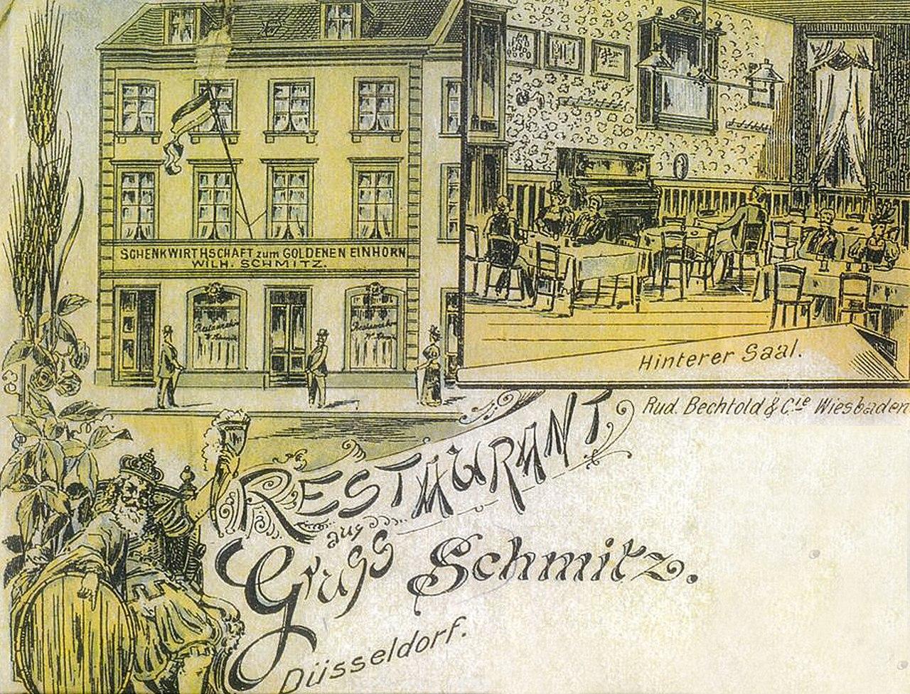 Einhorn Düsseldorf file zum goldenen einhorn 19 jh postkarte jpg wikimedia commons