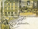 Zum Goldenen Einhorn 19. JH - Postkarte