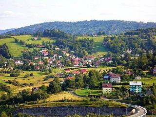 Zwardoń Village in Silesian Voivodeship, Poland