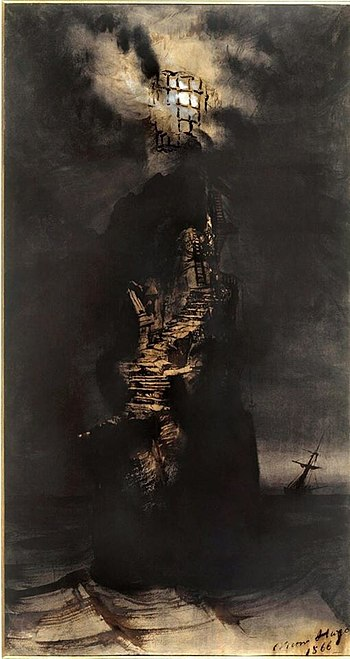"""""""Le phare"""" by Victor Hugo, 1866"""