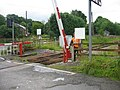 """Manned"" level crossing, Weardale Railway near Frosterley - geograph.org.uk - 1423850.jpg"