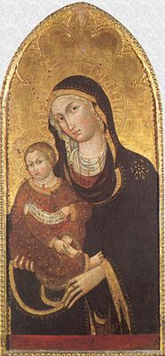 'Madonna and Child', by Nicolò da Voltri, end of 14th century, San Donato (Genoa)-San Donato, Genoa.jpg