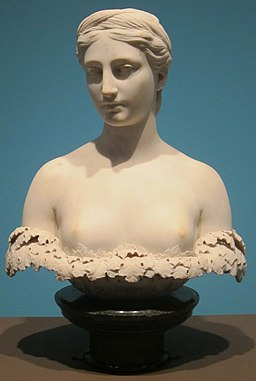 'Persephone', Carrara marble sculpture by Hiram Powers, 1844