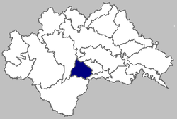 Map of Donji Kukuruzari municipality within Sisak-Moslavina County