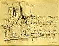 Église de Sainte Gudule, sépia par Léon van Dievoet, 1943.JPG