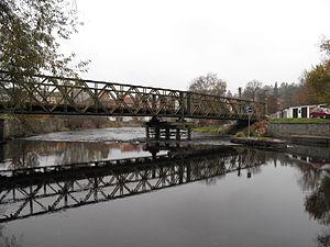 Český Krumlov, pontonový most.JPG